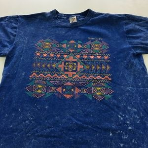 Sante Fe Tee Graphic Stone Wash T Shirt USA L